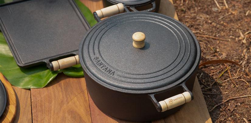 Panela de ferro com revestimento vegetal